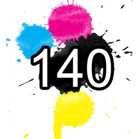 140 Epson Ink Cartridge Comp. Extra High Cap x 5