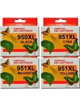 HP950XL HP951XL Ink Cartridges Re-manufactured x 4 (Full Set)