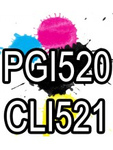 PGI 520 CLI 521 Canon Ink Cartridges Compatible x 5
