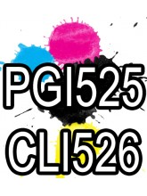 PGI 525 CLI 526 Canon Ink Cartridges Compatible x 5