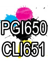 PGI650XL CLI651XL Canon Ink Cartridges Compatible x 5