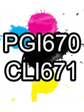 PGI670XL CLI671XL Ink Cartridge Comp x5 (No Grey)